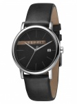 Esprit ES1G047L0035 Timber Grey Black Herrenuhr Lederarmband Datum