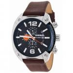 Diesel DZ4204 OVERFLOW Chronograph Uhr Herrenuhr Lederarmband braun