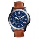 Fossil GRANT Chronograph Uhr Herrenuhr Leder braun FS5151