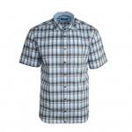 Eterna Herrenhemd Kurzarm Modern Fit Blau Grau Gr. XXL/46 2084/60/C247