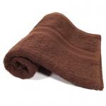 Handtuch Schokobraun Baumwolle 500g/m2 Frottee 50 x 100 cm
