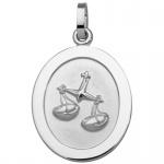 Basic Silber SZ110 Herren Anhänger Sternzeichen Waage Silber