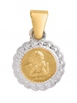 Basic Gold 10357 Kinder Anhänger Schutzengel 14 Karat (585) Bicolor