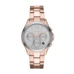 DKNY PARSONS Chronograph Uhr Damenuhr Edelstahl Chrono Datum rose