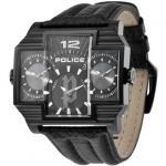 POLICE P13088JSB-02 Herrenuhr Hammerhead schwarz Lederarmband Uhr