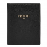 Fossil Geldbörse RFID Passport Case Schwarz SL7431-001 Reisepass Etui