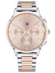 Tommy Hilfiger 1781876 EMMY Uhr Damenuhr Edelstahl Datum bicolor