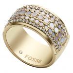 Fossil JF02604710508 Damen Ring Edelstahl Gold 56 (17.8)