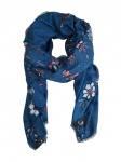 Esprit Damen Schal Patchwork Print Scarf 190cm Blau 018EA1Q004-E430