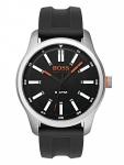 Boss Orange 1550042 DUBLIN Uhr Herrenuhr Kautschuk Datum Schwarz