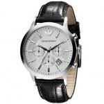 Emporio Armani AR2432 Herrenuhr Lederband Datum Chronograph schwarz