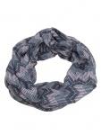 Esprit Damen Loop Schal Printed Infinity Polyester 160cm Grau