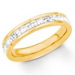s.Oliver 2018554 Damen Ring Edelstahl Gold Weiß 52 (16.6)