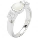Fossil JF18050 Damen Ring 925 Sterling Silber Weiß 56 (17.8)