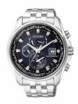 Citizen AT9030-55L Eco-Drive Funkuhr Uhr Edelstahl Datum Silber