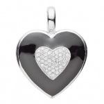 Basic Silber 21.EX489 Damen Anhänger Herz Silber Zirkonia weiß