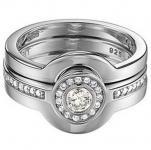 Esprit ESRG91966A Damen Ring Silber fame trilogy Zirkonia Gr 60 /19