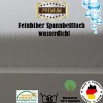 Feinbiber Spannbettlaken Matratzenschoner Wasserdicht 180x200
