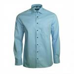 Eterna Herren Hemd Langarm Modern Fit Blau L/42 Hemden 8048/11/X187
