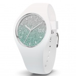 Ice-Watch 013426 Ice-Lo White türkis small Uhr Damenuhr Silikon Weiß