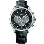 Hugo Boss 1512879 Chronograph Uhr Herrenuhr Leder Chrono schwarz
