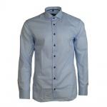Eterna Herrenhemd 8585/10/F182 Langarm Hemd Slim Fit Blau XL/43