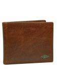 Fossil Herren Geldbörse RYAN Bifold Flip ID Leder Braun ML3729-201