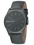 Esprit ES1G034L0045 Essential Anthracite-G Herrenuhr Lederarmband Grau