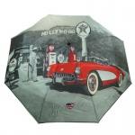 Y Not 55545 Super Mini City Hollywood Grau-Rot Taschenschirm