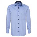 Eterna Herrenhemd Langarm Comfort Fit Blau Gr. L/42 8100/12/E137