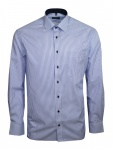 Eterna Herren Hemd Langarm Comfort Fit 8992/16/E15P Blau XL/44