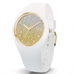 Ice-Watch 013428 Ice-Lo White gold small Uhr Damenuhr Silikon Weiß