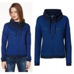 Vero Moda Sweatjacke 10128341 JANE L/S Highneck Zip Sweat Blau Gr. XS