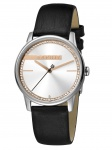 Esprit ES1L082L0015 Rock Uhr Damenuhr Lederarmband Schwarz
