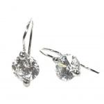Basic Silber 02.EX650W Damen Ohrringe Silber Zirkonia weiß