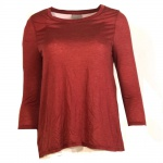Vero Moda Damen Shirt Blusenshirt NEW MARIE 3/4 Top GA IT Rot Gr. XS