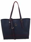 Tommy Hilfiger Damen Handtasche Tasche Honey Med Tote Blau