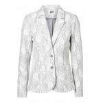 Vero Moda Damen Blazer Jacke BENNO Lace LS Blazer Grau Gr. 34