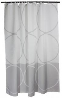 Duschvorhang Grau Weiss textil Grey Points Arinosa 180 x 200