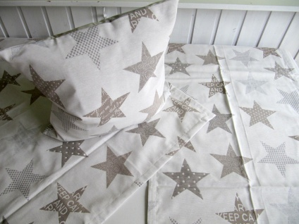Sterne Natur Auswahlmöglichkeit Kissen, Mitteldecke oder Tischläufer - Vorschau 1