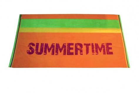 Strandtuch Orange Summertime 95x175 Veloursfrottier
