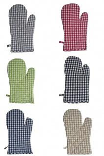 Ofenhandschuh Karo Vichy in 7 Farben
