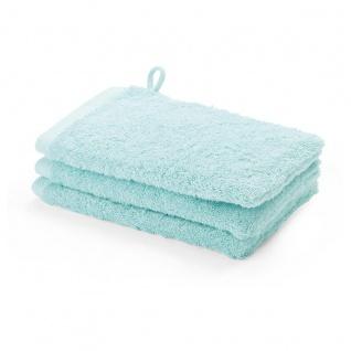 Waschhandschuh 3er Pack 16x22 London Aquanova Farbe Mint