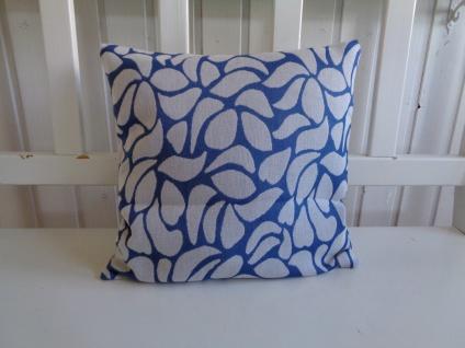 Dekokissen Kissenhülle Blau Mosaik 38x38 cm mit Teflonausrüstung ohne Füllung