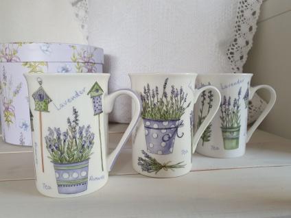 Tasse Lavendel Shabby Vintage Teetasse Kaffeetasse 250 ml ab 1 Stück