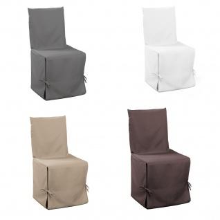 Stuhlhusse Stuhlüberwurf Stuhlbezug 50 X 50 X 100 verschiedene Farben
