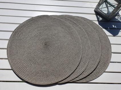 4 er Set Platzmatten Tischsets Natur Rund 35cm geflochten Platzset