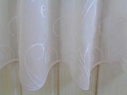 Scheibengardine Weiß floraleLochstickung 45 cm oder 60 cm Hoch ab 1 Meter