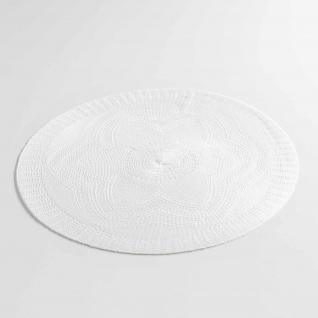 2 er Set Platzmatten Tischsets Weiß Vintage Shabby Chic Landhaus Ø38 cm