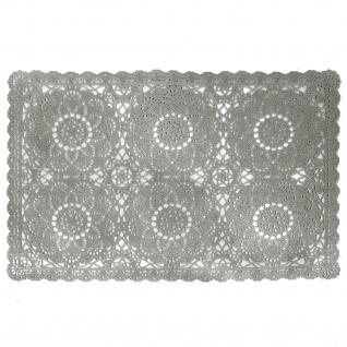 2 er Set Platzmatten Tischsets Grau Vintage Shabby Chic Landhaus Häkeloptik PVC 30x45